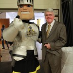 Fear and Dr. Sullivan posing at an Accepted Student Day