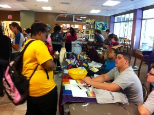 Students were eager to learn more about campus activity opportunities
