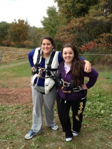 Brave Zip Liners Tinamarie and Cynthia Photo Cred: Chris