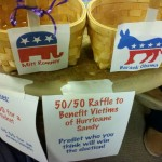 Phi Alpha Theta's 50/50 Raffle! Half of the proceeds were donated to Hurricane Sandy.