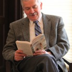 "President Szczerbacki tackling his current selection, ""Life of Pi."" (photo credit: Kayla Germain)"