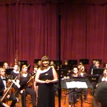 "Me standing with the Saint Rose Orchestra after singing ""Knoxville: Summer of 1915""! I was so happy in that moment and so proud of my accomplishments!