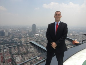 On top of Torre Mayor (photo provided by Oren Rasowsky)