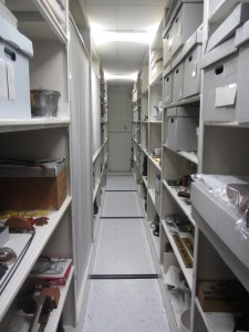 This is the Collections Storage Room (I call it the 'evidence room') at the Juneau-Douglas City Museum! (photo credit: Priscilla Ly)
