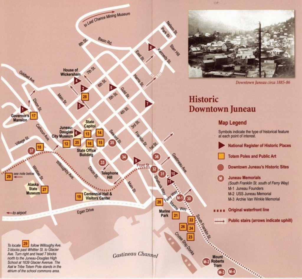 Map of Downtown Juneau (Courtesy of the Juneau-Douglas City Museum)