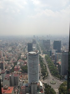 Hazy morning overlooking Reforma Avenue (Photo Credit: Oren Rasowsky)