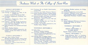 Freshman Week Brochure (Click for Larger Image)