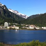 A view of downtown Juneau as I walk to work