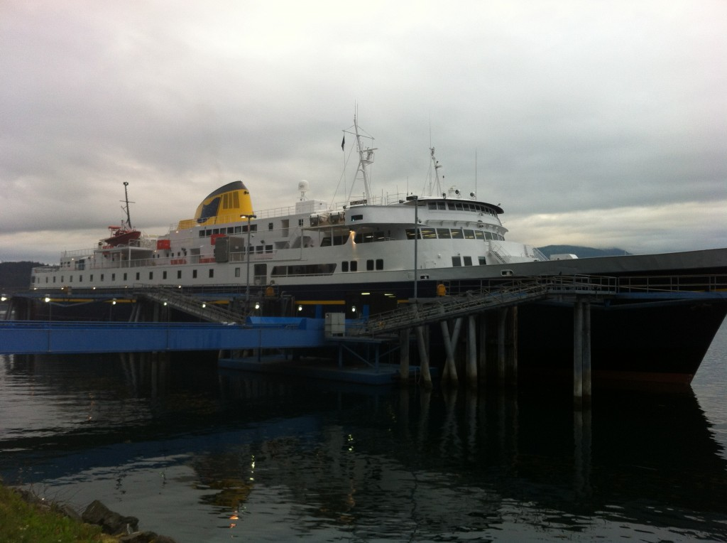 The M/V Malaspina, the ferry I boarded to and from Haines (credit: Priscilla Ly)