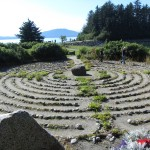 A labyrinth at the Shrine of St. Therese