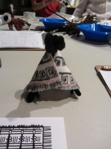 The Explorers got to recreate miniature models of the native vestments that they saw. (credit: Priscilla Ly)