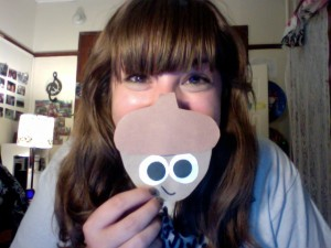 Me with one of the acorn door tags! Photo Credit Genevieve Diller