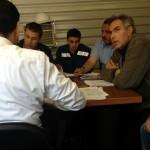 Construction Meeting at Torre Diana (photo credit: Oren Rasowsky)