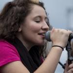 "Alyssa Pertell from the Girls Next Door sings ""Kiss Me""."