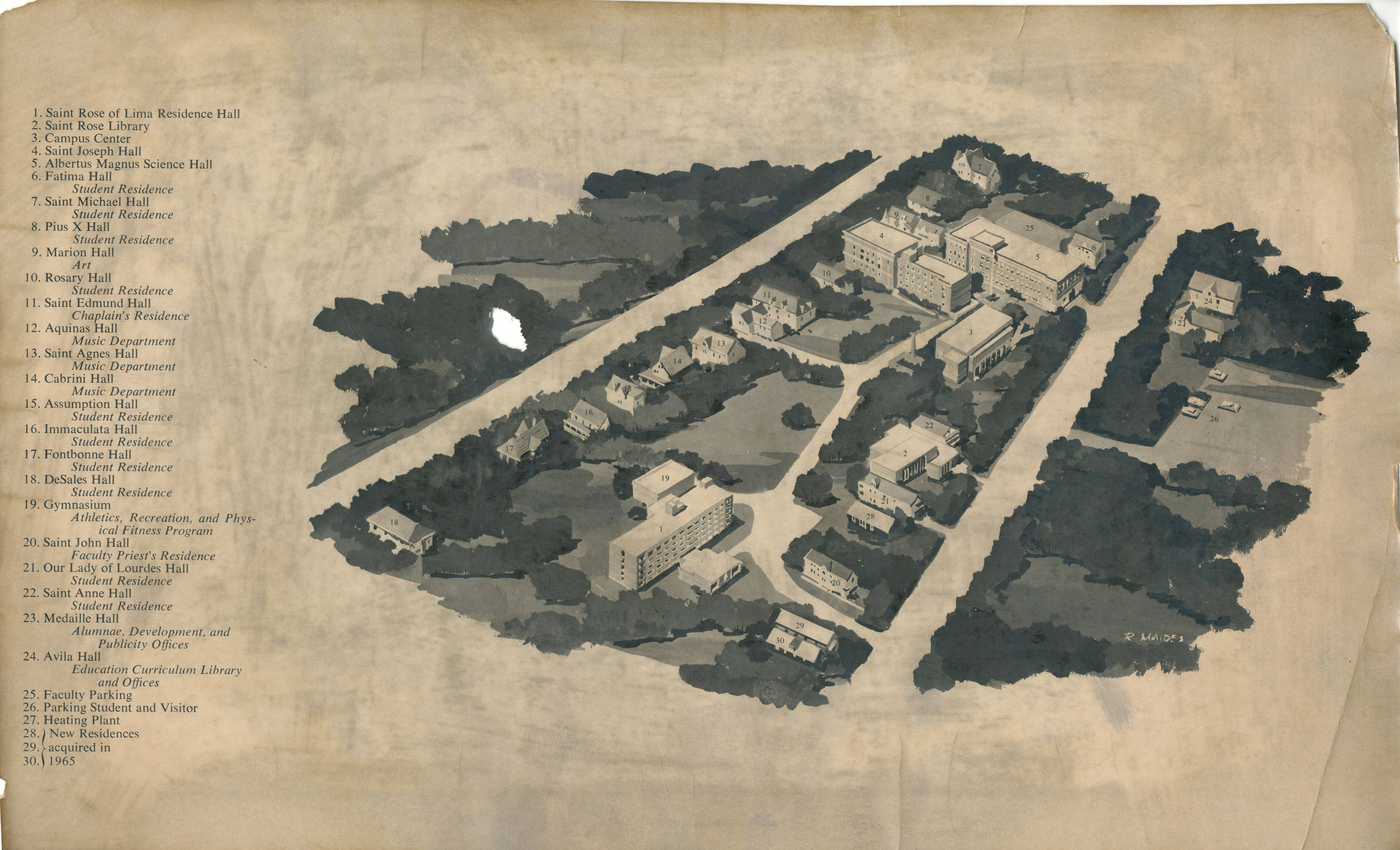 St Rose Campus Map.Tales From The Archives Maps The College Of Saint Rose