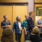 To wrap up Pink Week, hosted by Colleges Against Cancer, an A Capella night was hosted featuring the Other Guys as well as the Girls Next Door and the Golden Notes (Photo courtesy of Chris Lovell)