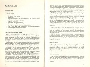 1973-74 Course catalog from Saint Rose Archives