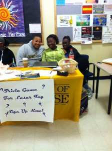 Late Knight members tabling in the Events and Athletics Center. (Photo credit: Michelle Flores)
