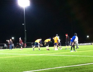 Lima vs Bru Intramural Flag Football game. Photo Credit: Michelle Flores