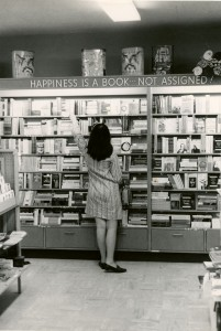 """""""Happiness is a book... Not assigned!"""" My favorite photo from the archives photo collection."""