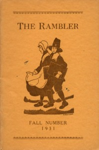 1931 Fall edition of The Rambler from the archives student publication collection