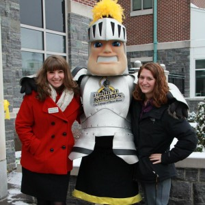 Me, Lyssa, and Fear the Knight all ready for tours! Photo taken by Kayla Germain.