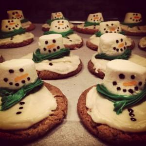 My maple sugar cookie snowmen! So Delish!
