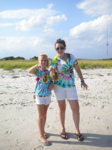 LOL at me 4 years ago! Thats a sight to see in itself! My cousin and I with some horseshoe crabs! Ew!