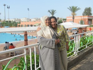 Here is a photo of Professor Eladdadi with her mother in Casablanca, Morocco