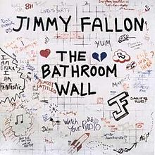 the bathroom wall