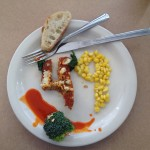 """""""Who's gonna miss the dining hall after graduation??? Food art made by senior Joseph Lancelot."""""""
