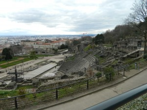 This is a view of a Roman Amphitheater in Lyon. The Chamber Choir gave an impromptu concert here for the other tourists visiting! They, of course, loved us. Photo taken by Genevieve Diller.
