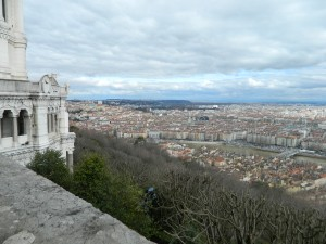 A view of Lyon from the Basilique Notre Dame de fourvière.  Photo taken by Genevieve Diller
