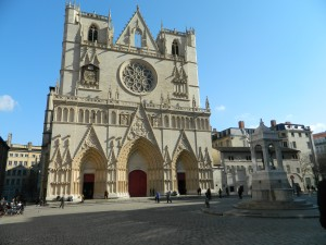 A view of the Cathedral in Lyon! Photo taken by Genevieve Diller.
