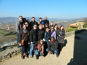 Me and some of my fellow students having a great time on a tour of the wine country in France! Photo taken by Mike D'Attilio