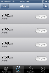 Setting these the night before makes me more sad than it should.