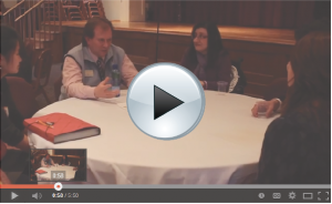 Saint Rose Student & Alumni Networking at the Career Roundtables this past Fall