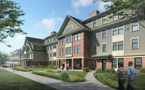 Centennial Hall, an apartment style dorm building, is one of our newest buildings on campus!  Photo taken from Google.