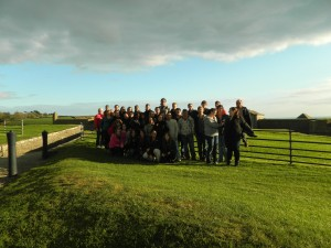 We all love each other, as shown in this picture of the College of Saint Rose Chamber Choir in Ireland!  Photo taken by Genevieve Diller.
