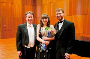 Me after my Senior Recital - the capstone performance of my career. I was able to celebrate this with so many friends and was really able to be proud of my accomplishments! Photo taken by Chris Lovell.