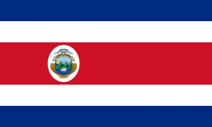The official Costa Rican Flag