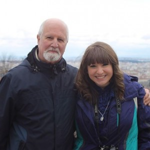 Me and Dr. Levi in Lyon, France from this past Spring Break trip. Picture taken by Michael Levi