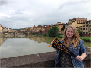 Our thanks to Paige, pictured here, for sharing a glimpse of her study abroad journey with us.