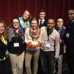 The group that went to a residence life confrence- we won the spirit trophy!