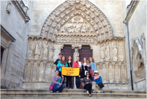 Saint Rose students and faculty abroad in Burgos, Spain.