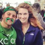 Justin and I at the Saint Patrick's Day Parade