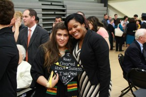 After Graduation reception with Latisha  Barnett. Photo Credit: The College of Saint Rose
