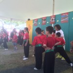 Children teaching the audience the art of Wushu