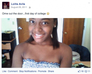"My freshmen first day of  college ""selfie"""