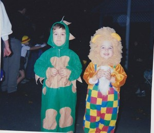 My brother and I, Halloween 1990-something.